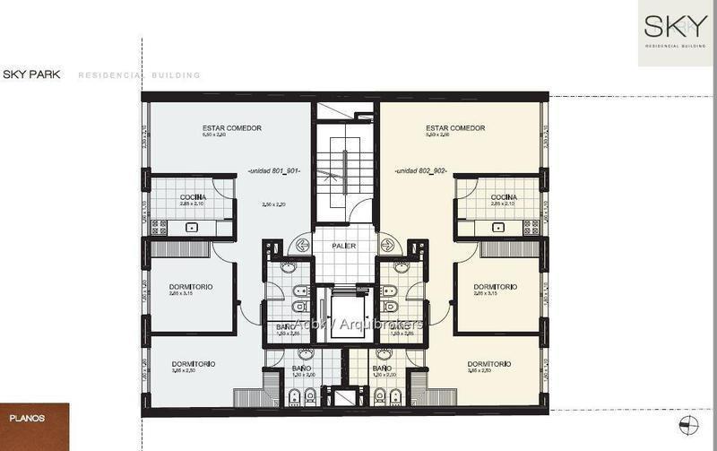 apartamento de 2 dormitorios en venta con renta en centro