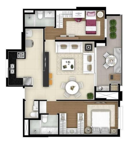 apartamento de 2 dormitórios no maison 29, à venda, mercês, curitiba - ap0505 - ap0505