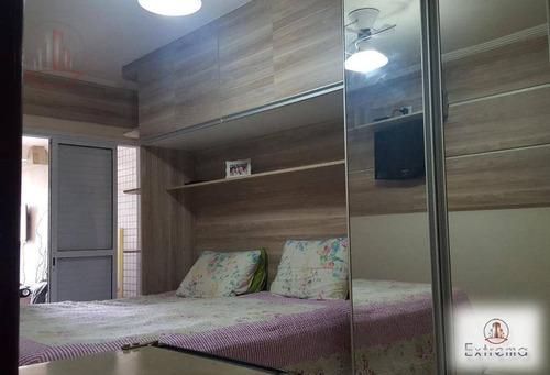 apartamento de 2 dormitórios sendo 2 suítes todo mobiliado em praia grande. - ap1159