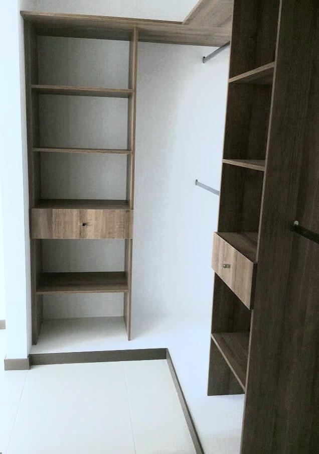 apartamento de 2 habitaciones, vestier,  2 baños.