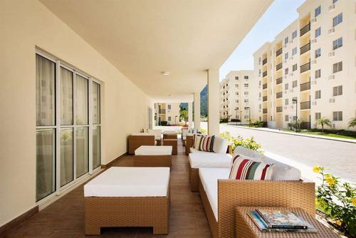 apartamento de 2 quartos em jacarepaguá - cond verdant