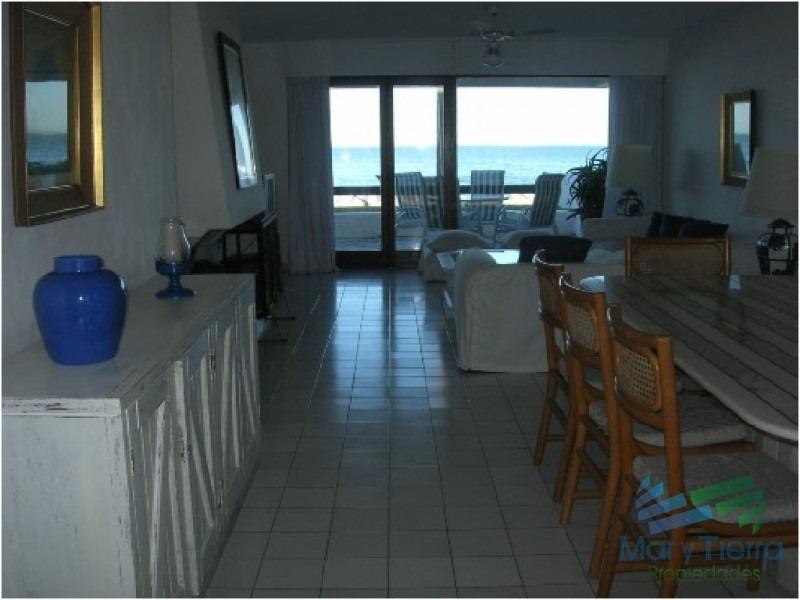 apartamento de 3 dormitorios frente al mar en venta y alquiler, peninsula, punta del este.-ref:25