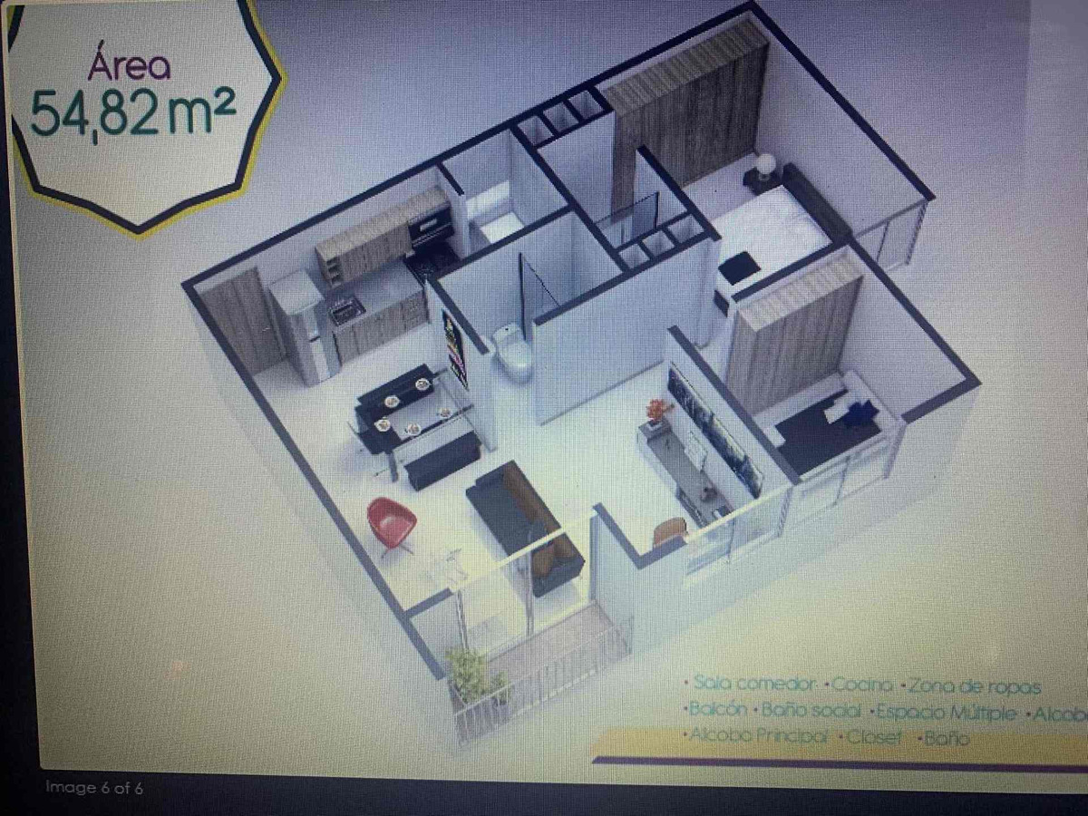 apartamento de 3 habitaciones en bello quitasol
