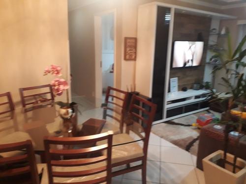 apartamento de 3 quartos semi mobiliado