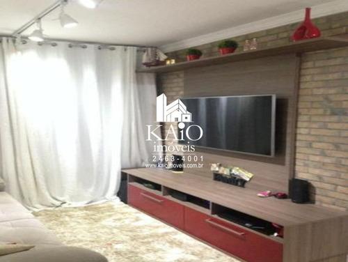 apartamento de 77m² com 3 dormitórios 1 suite 2 vagas, jardim flor da montanha - ap1152