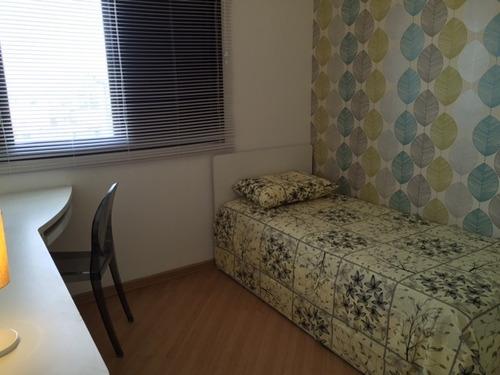apartamento de 94m² 3 dorm 01 suíte 02 vagas - mobiliado.