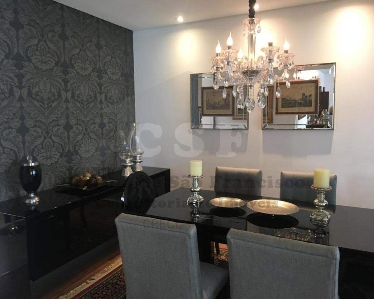 apartamento de alto padrão de 254m² distribuídos em 4 dormitórios - ap12811 - 33705364