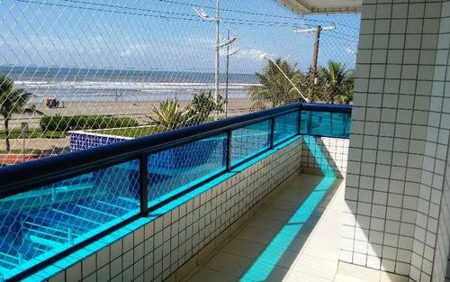 apartamento de frente ao mar, no caiçara em praia grande