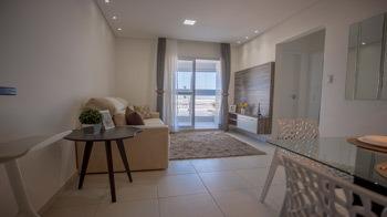 apartamento de frente para o mar mobiliado em mongaguá 5095c