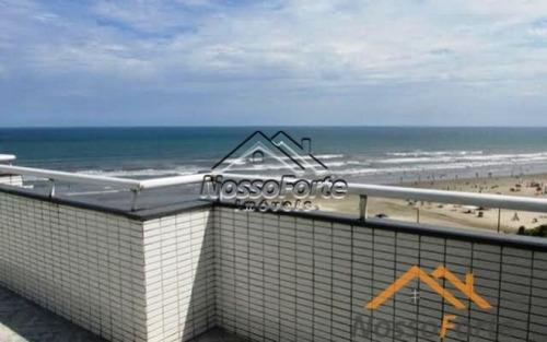 apartamento de frente para o mar no caiçara em praia grande