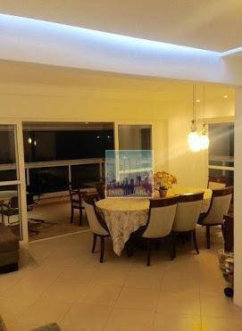apartamento de luxo, 4 dormitórios. frente/mar, 176 m² por r$ 1.000/dia - praia das pitangueiras - guarujá/sp - ap0292