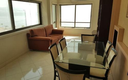 apartamento decorado com vista para o mar na av. beira mar norte florianópolis