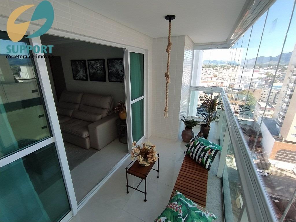 apartamento decorado na praia do morro em guarapari-es - support corretora de imóveis - ap00158 - 68157742