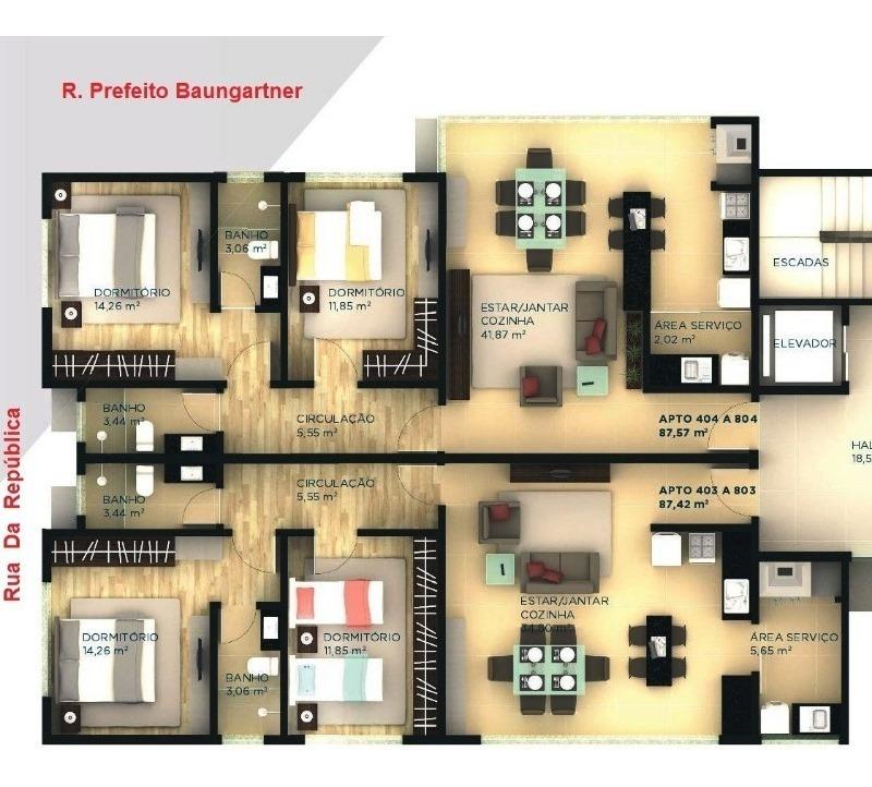 apartamento - do parque - ref: 7326 - v-7326