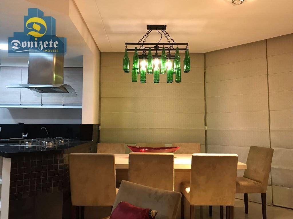 apartamento duplex com 1 dormitório à venda, 86 m² por r$ 550.000,00 - jardim - santo andré/sp - ad0006