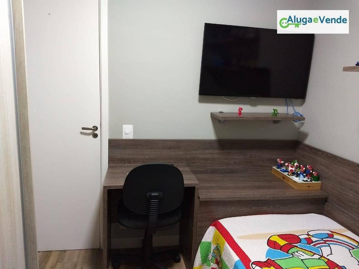 apartamento duplex com 3 dormitórios 1 suíte à venda, 126 m² por r$ 750.000 - vila augusta - guarulhos/sp - ad0004