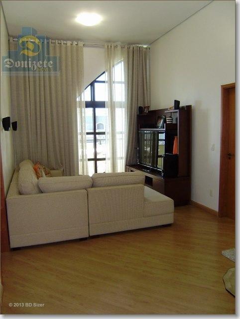 apartamento duplex com 3 dormitórios à venda, 280 m² por r$ 2.000.000,00 - vila assunção - santo andré/sp - ad0027
