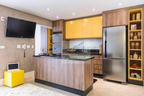 apartamento duplex residencial à venda, brooklin, são paulo. - ad0002