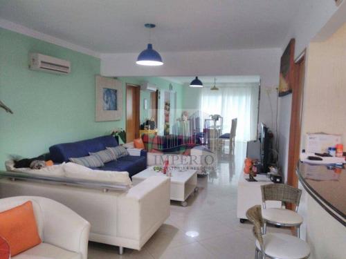apartamento duplex residencial à venda, canto do forte, praia grande. - ad0002