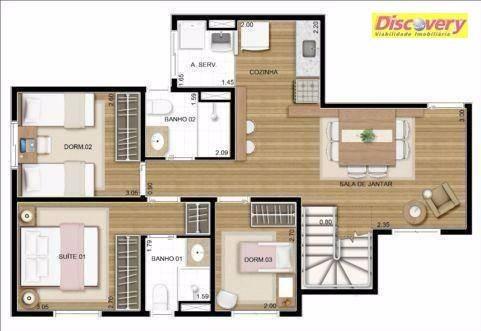 apartamento duplex  residencial à venda, vila augusta, guarulhos. - ad0001