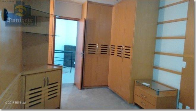 apartamento duplex à venda, 86 m² por r$ 585.000,15 - jardim - santo andré/sp - ad0001