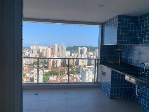 apartamento em aparecida, santos/sp de 167m² 4 quartos à venda por r$ 1.600.000,00 ou para locação r$ 6.500,00/mes - ap178674lr