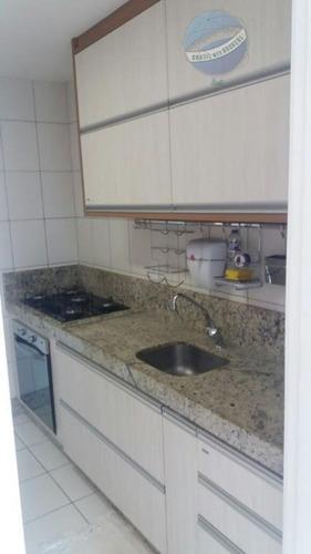 apartamento em capim macio, todo mobiliado,  com 3 quartos - residencial ibiza - ap0028