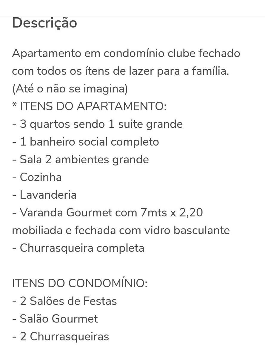 apartamento em condomínio clube - lazer total