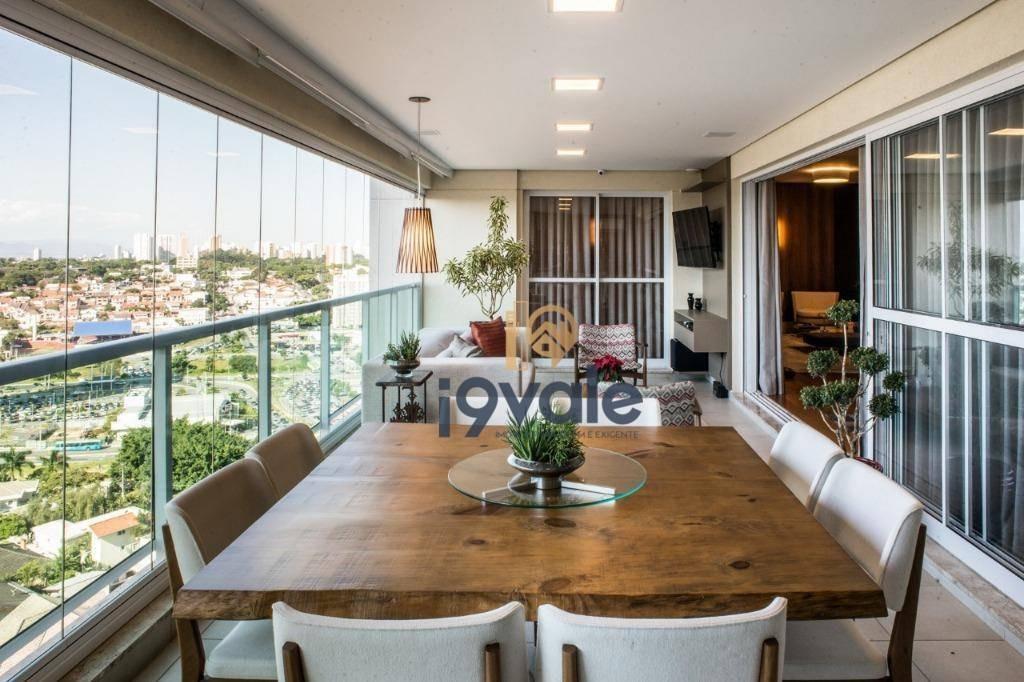 apartamento em , condomínio de luxo, jardim aquarius paessagio à venda, 278 m² - jardim das colinas - são josé dos campos/sp - ap1785