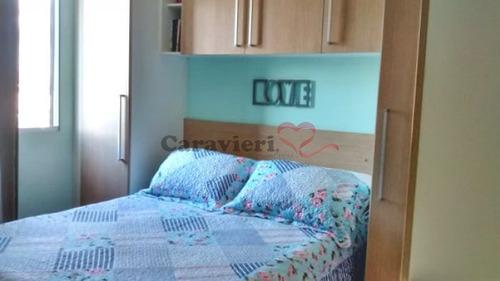 apartamento em condomínio padrão para venda no bairro vila pierina, 2 dorm, 1 vagas, 52 m - 12207