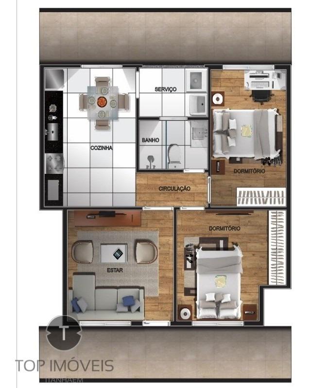 apartamento em condomínio à venda em são vicente - ca00281 - 34329618