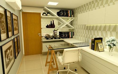 apartamento em construção, joão pessoa, cabo branco, 2 e 3 q