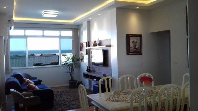 apartamento em copacabana vista mar na quadríssima da praia reformado com vaga de garagem!! - cpap30185