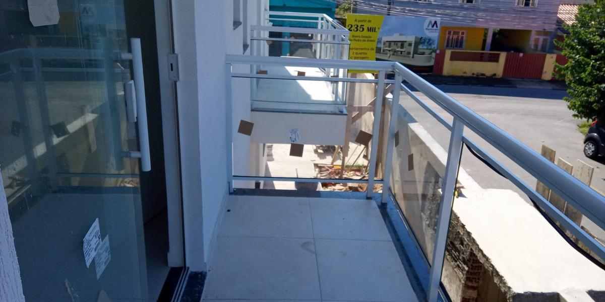 apartamento em estação, são pedro da aldeia/rj de 59m² 2 quartos à venda por r$ 235.000,00 - ap572046