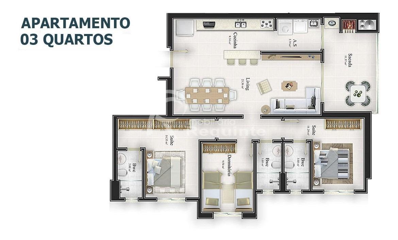 apartamento em itapema com 3 dormitórios novo - 1988