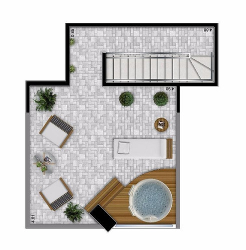 apartamento em josé menino, santos/sp de 45m² 1 quartos à venda por r$ 520.000,00 - ap99252