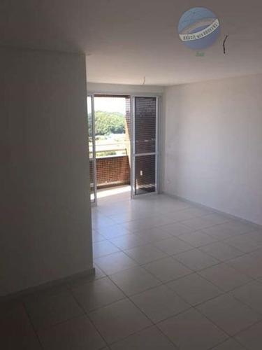 apartamento em lagoa nova, 3 quartos, com vista para o parque das dunas - ap0091