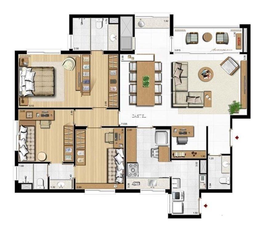 apartamento em menino deus com 3 dormitórios - ca3558