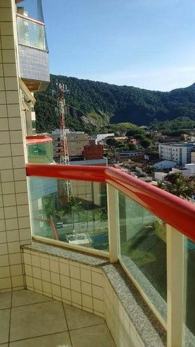 apartamento em mongaguá de frente para o mar (centro)