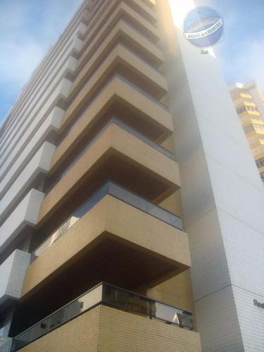 apartamento em petrópolis, com 4 suítes e vista para o mar - residencial monte sinai - ap0037