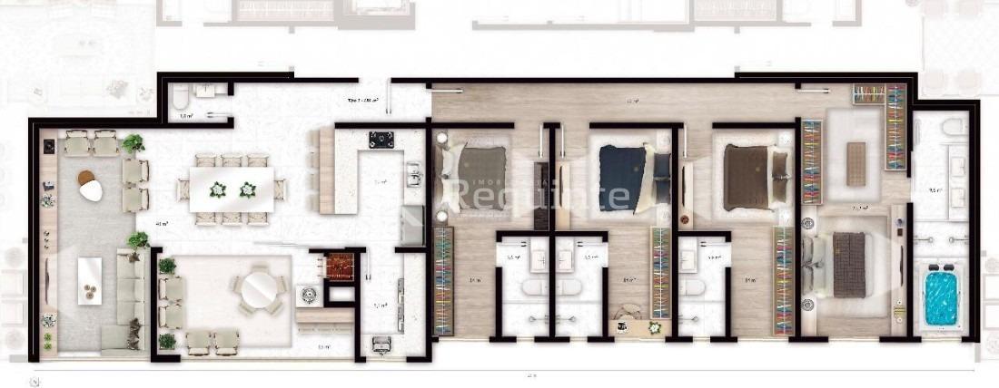 apartamento em porto belo 4 suítes frente mar - 1449