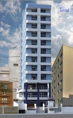 apartamento em praia grande, 01 dormitório, sacada gourmet com lazer completo no caiçara ap1648 - ap1648