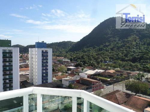 apartamento em praia grande, 02 dormitórios sendo 01 suíte,01 vaga. prédio com elevador no forte ap1691 - ap1691