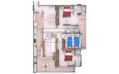 apartamento em praia grande -  forte