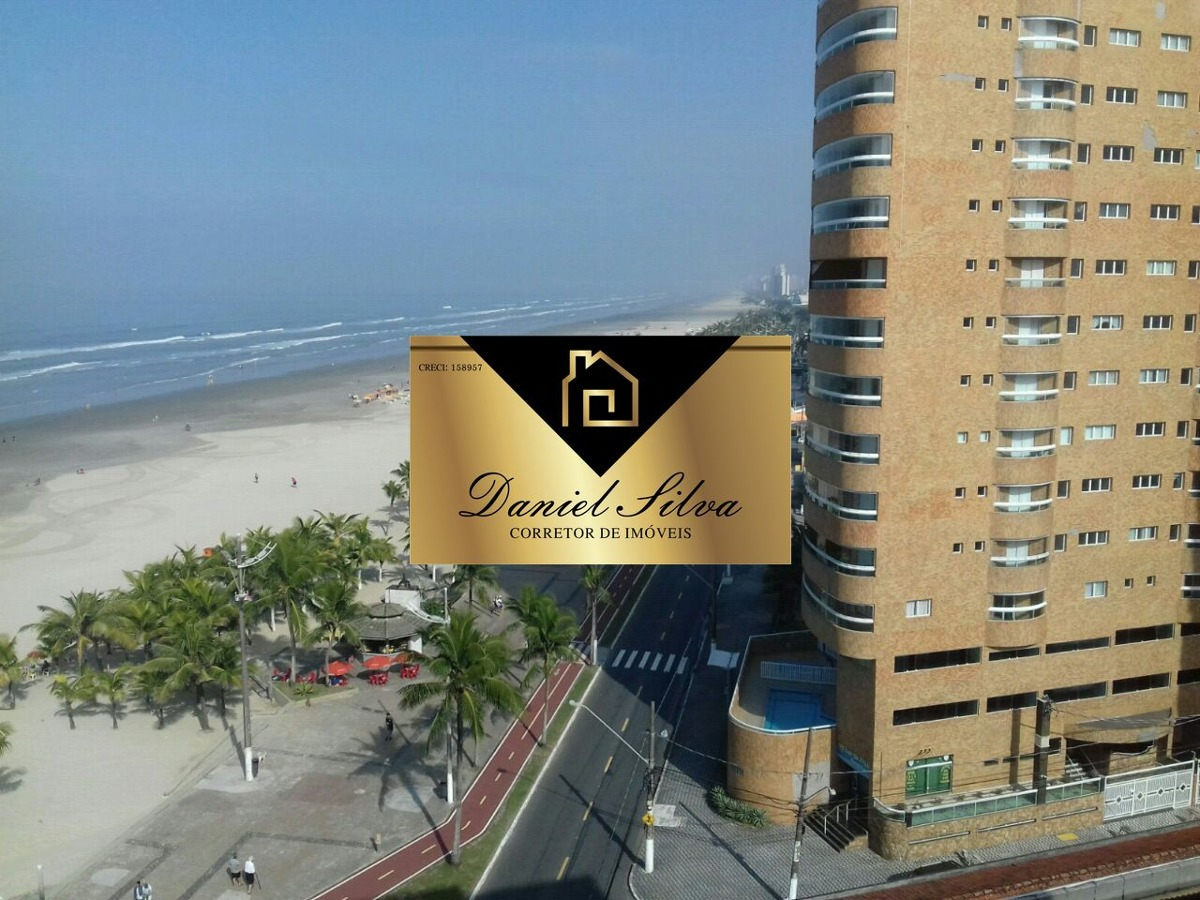 apartamento em praia grande frente para o mar