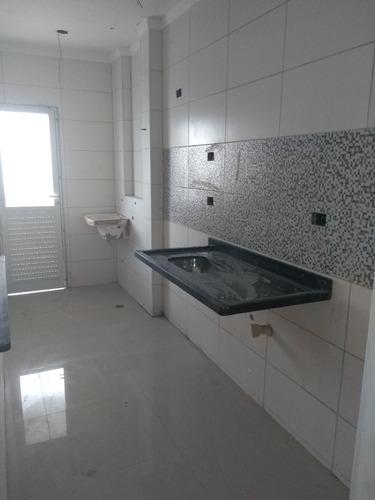 apartamento em praia grande r$ 270 mil novo cna 734