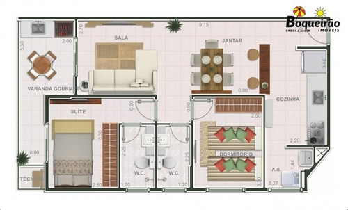 apartamento em praia grande vila guilhermina  - 2641