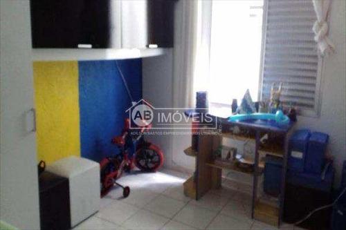 apartamento em santos bairro pompéia - v2821