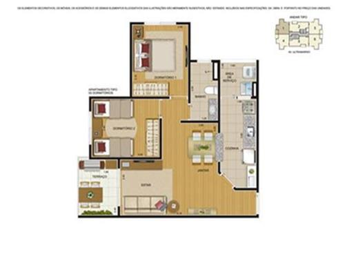 apartamento em são paulo - 53.95 m2 - código: 2482 - 2482