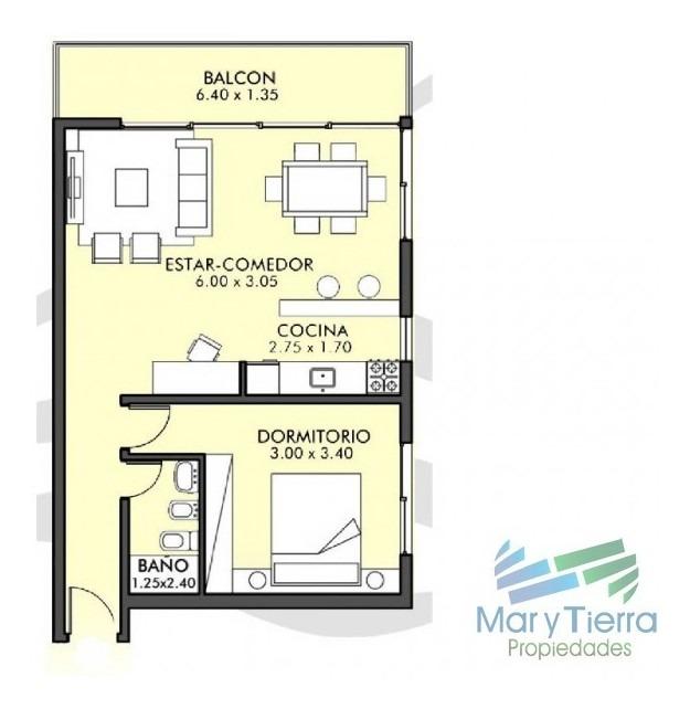 apartamento en aidy grill, 1 dormitorios *-ref:1219